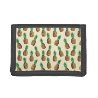 Summer Light Beige Pineapple Pattern Tri-fold Wallets