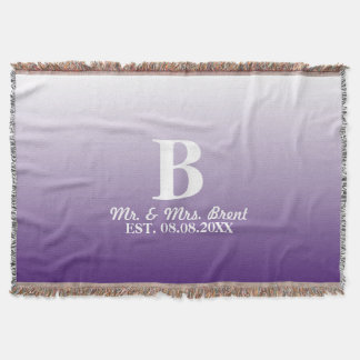 summer lilac ombre purple monograms