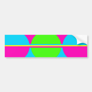 Summer Lime Green Hot Pink Teal Circles Stripes Bumper Stickers