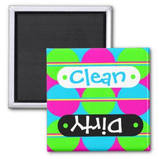 Summer Lime Green Hot Pink Teal Circles Stripes Refrigerator Magnets