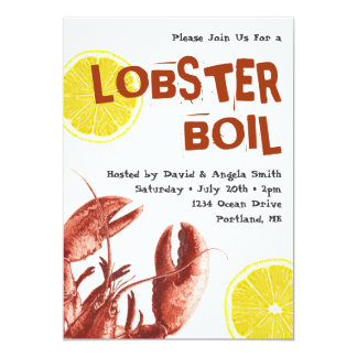 Summer Lobster Boil Party White Card