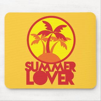 SUMMER LOVER with palm trees Mousepads