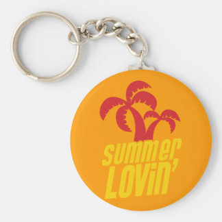 Summer Lovin with palm trees Key Chain
