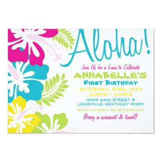 Summer Luau Hawaiian Invitation