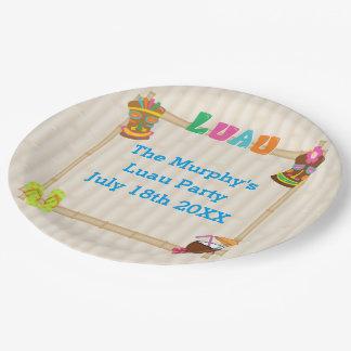 Summer Luau Paper Plates