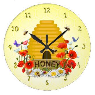 Summer Meadow Beehive Honey Clock