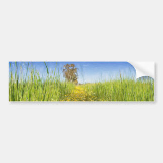 Summer Meadow Bumper Sticker