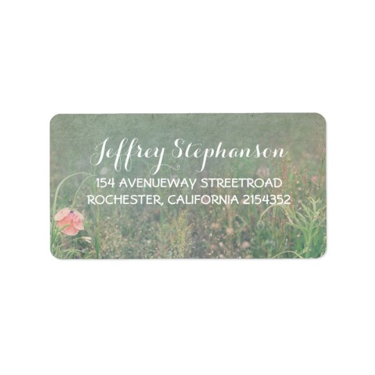 Summer Meadow Elegant Vintage Address Label