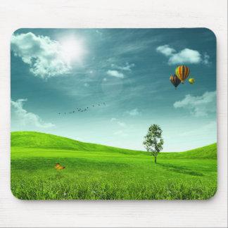 Summer Meadow Landscape Mouse Pad