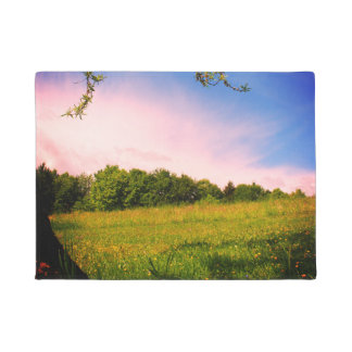 Summer meadow Retro photography July August Alm Doormat