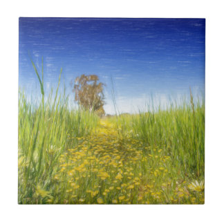 Summer Meadow Small Square Tile