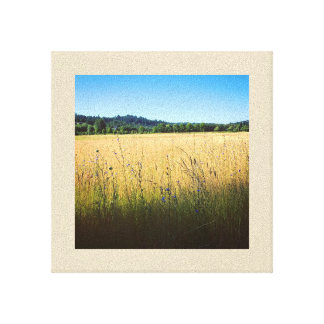 Summer Meadow with Blue Wildflowers Canvas Print