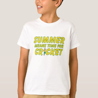 Summer Means Time for Cricket Yellow and Green T-Shirt