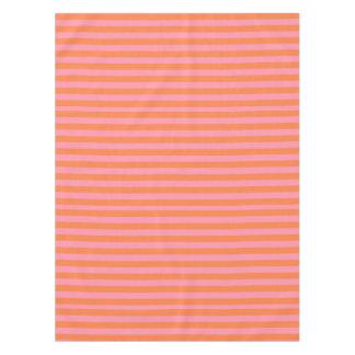 Summer Mood Orange Pink Lines Tablecloth