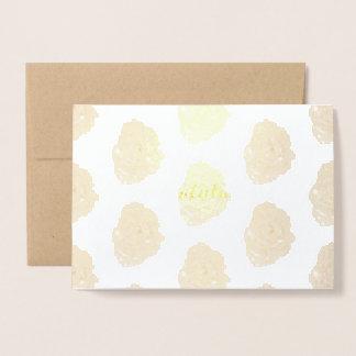 Summer Morning Rose Congratulations Foil Card