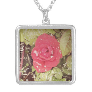 Summer Morning Rose Personalized Necklace