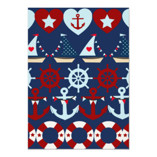 Summer Nautical Theme Anchors Sail Boats Helms Card