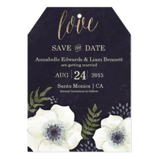 Summer Night Flowers Wedding Save the Date Card 13 Cm X 18 Cm Invitation Card