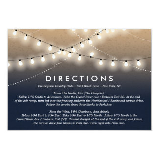 Summer Night Lights Directions  | Weddings Card