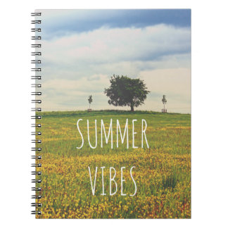 Summer notebook with beautiful landscape