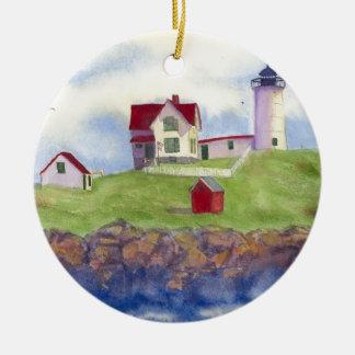 summer nubble ceramic ornament
