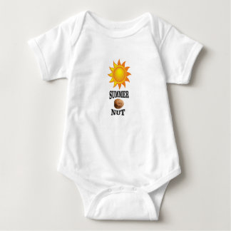 Summer nut in sun baby bodysuit