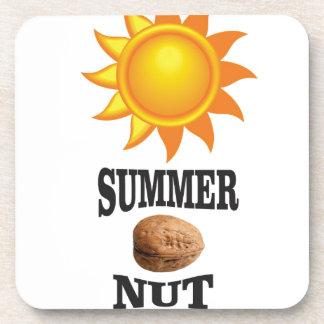 Summer nut in sun coaster