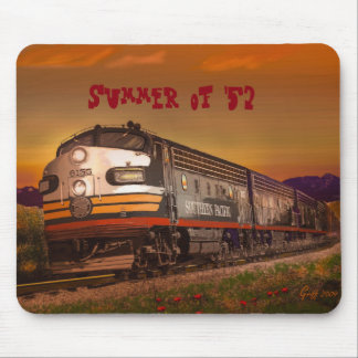 Summer of '52 Southern Pacific F Unit in CA Mouse Pad