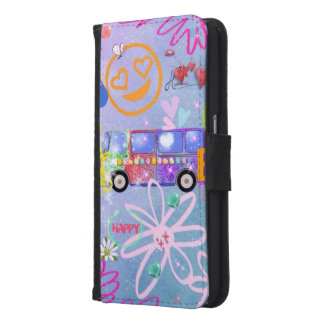 summer of love - the 60s samsung galaxy s6 wallet case