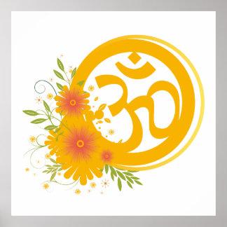 Summer Om Symbol Poster