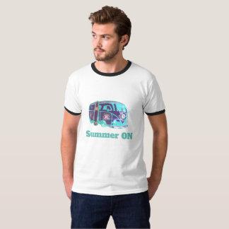 Summer On HippieVan Men's Basic Ringer T-Shirt, T-Shirt