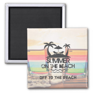 Summer on the  Beach | Personalized Magnet