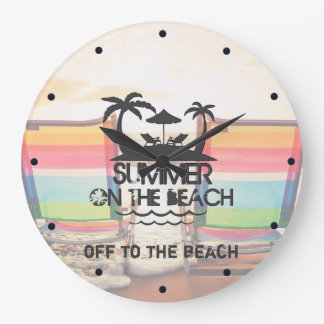 Summer on the  Beach | Personalized Wallclocks