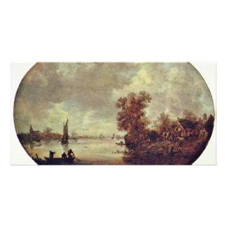 Summer On The River By Goyen Jan Van (Best Quality Custom Photo Card
