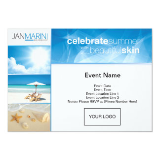 Summer Open House Postcard 13 Cm X 18 Cm Invitation Card