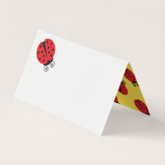 Summer Outdoors Dinner Party Ladybug Name Card