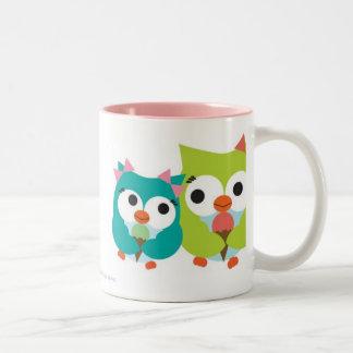 Summer Owls Two-Tone Coffee Mug