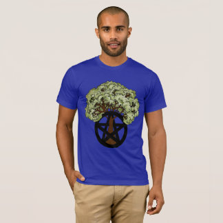 Summer Pagan Pentacle Tree T-Shirt