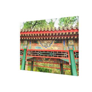 Summer Palace Bridge Detail Canvas Print