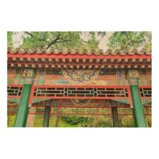 Summer Palace Bridge Detail Wood Print