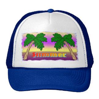 Summer Palm Trees Trucker Hat