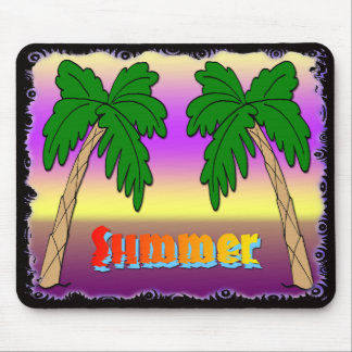Summer Palm Trees Mouse Pad