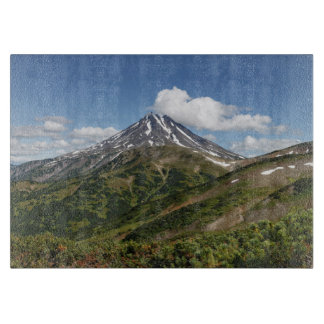 Summer panorama of volcanic landscape in Kamchatka Cutting Board