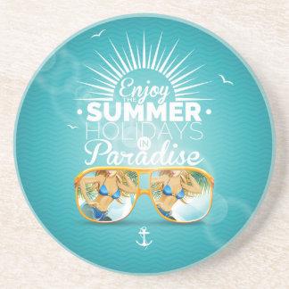 Summer Paradise Design Drink Coasters