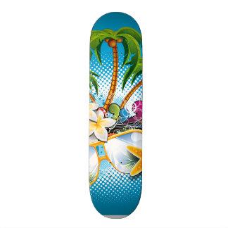 Summer Paradise Design with sunglasses 20 Cm Skateboard Deck