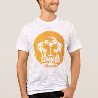 Summer Paradise  Palms And  Coctails Men's Tshirts