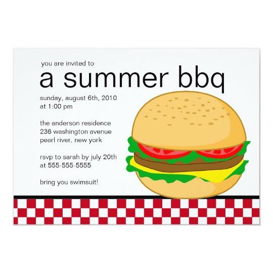 Summer Party BBQ Invitation