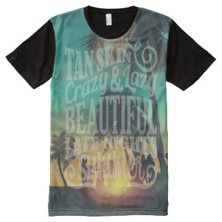 Summer party  design with lettering men's t-shirts