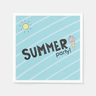 Summer Party! Fun Beach theme Disposable Napkins