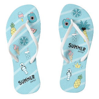 Summer Party! Fun Beach theme Thongs